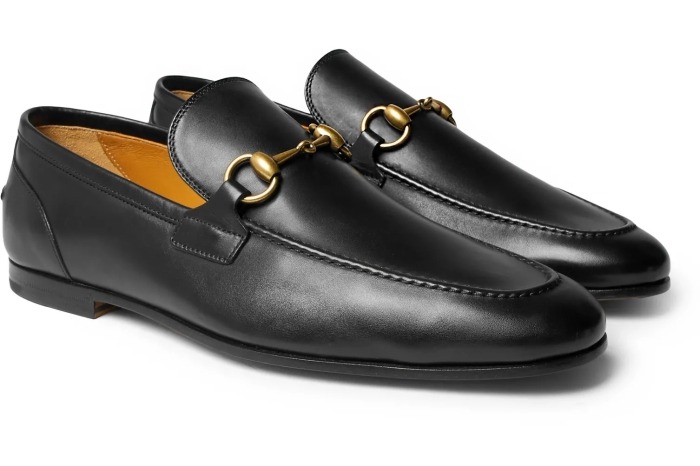 Gucci Horsebit With Web Leather Loafer